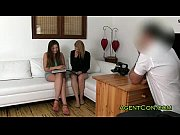 6 Min Fakeagent .com With Two Hot Girls On Sofa Casting