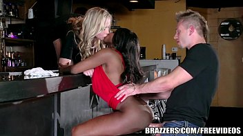 Sexy Ebony Diamond Jackson Joins A Hot Threesome Fuck Brazzers.com 7 Min