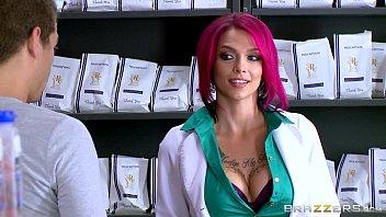 Inked Milf Anna Bell Sucks Xander's Huge Cock Brazzers.com 7 Min